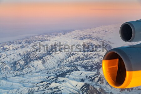 beautiful view from the aircraft to the mountains in Tashkent, c Stock photo © meinzahn