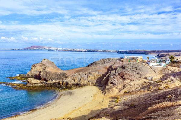 Papagaios praia canárias Espanha natureza paisagem Foto stock © meinzahn