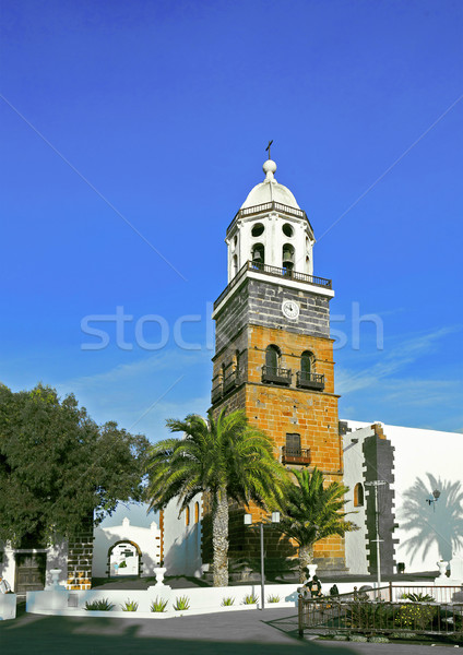 Belltower of the Iglesia San Miguel in Teguise  Stock photo © meinzahn