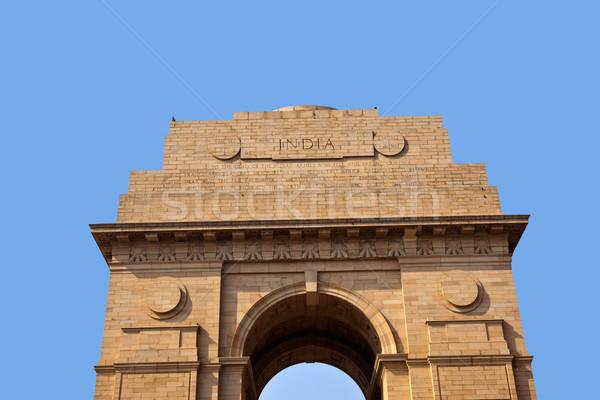 Célèbre Inde porte Delhi ville guerre Photo stock © meinzahn