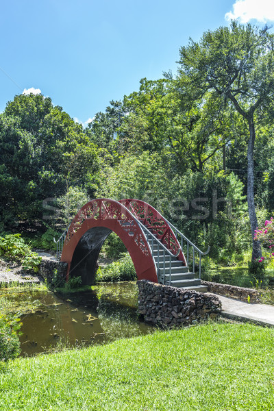 chinese bridge in Bellingraths Garden Stock photo © meinzahn