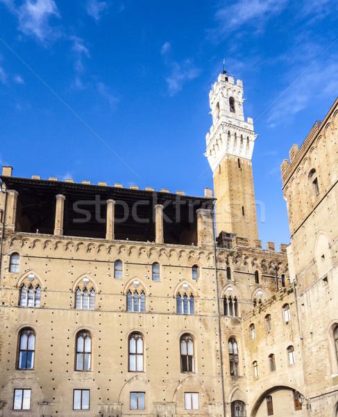Piazza del Campo in Siena, Italy Stock photo © meinzahn
