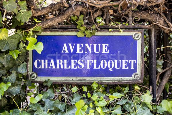 Avenue Charles Floquet - old street sign in Paris Stock photo © meinzahn