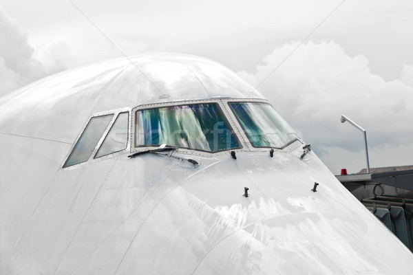 подробность самолета носа кокпит окна путешествия Сток-фото © meinzahn