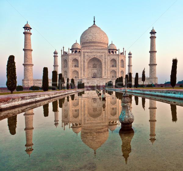 Taj Mahal India amore architettura bianco marmo Foto d'archivio © meinzahn