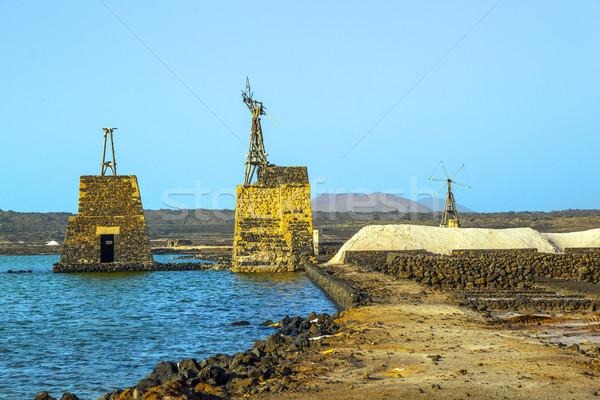 Só finomító tájkép tenger minta vakáció Stock fotó © meinzahn