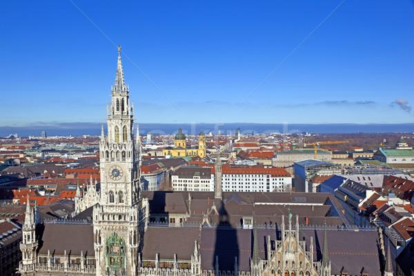 ミュンヘン 美しい 天気 建物 教会 ストックフォト © meinzahn