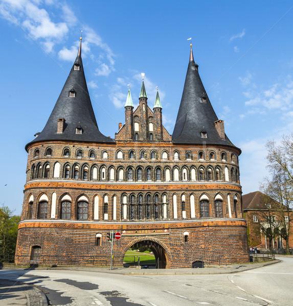 Portão céu azul viajar europa turismo Foto stock © meinzahn
