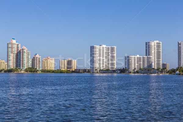 Skyline Miami Ocean cielo blu città hotel Foto d'archivio © meinzahn
