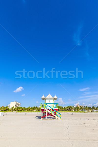 ライフガード キャビン 空っぽ ビーチ マイアミ フロリダ ストックフォト © meinzahn