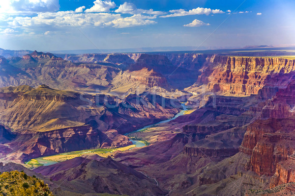 Grand Canyon sunrise fiume Colorado montagna blu Foto d'archivio © meinzahn