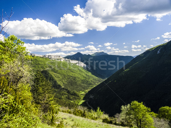 landscape of south of France, Rochecolombe, Drome, Rhone, Alps Stock photo © meinzahn