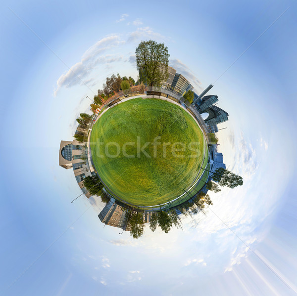 panorama of Spreebogen park in Berlin with government buildings Stock photo © meinzahn