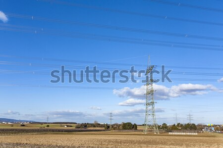 electric pylon in landscape Stock photo © meinzahn