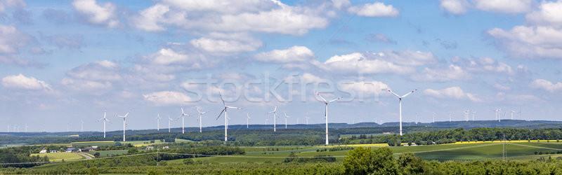 panoramic view of wind generators Stock photo © meinzahn