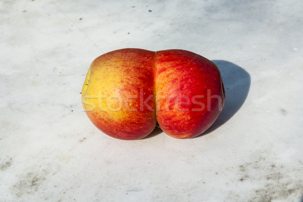 fresh apples with funny deformations Stock photo © meinzahn