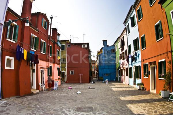 Kolorowy fasada starych rybak domu ulicy Zdjęcia stock © meinzahn
