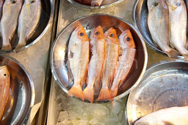 Stockfoto: Geheel · vers · vis · markt · asia