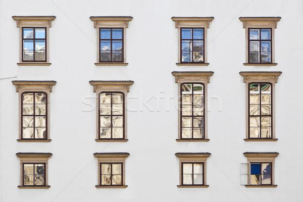 old windows at Hofburg facade in vienna Stock photo © meinzahn