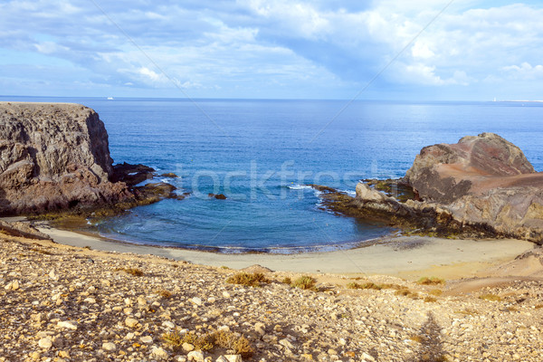 Playa de Papagayo (Parrot's beach) on Lanzarote, Canary islands, Stock photo © meinzahn