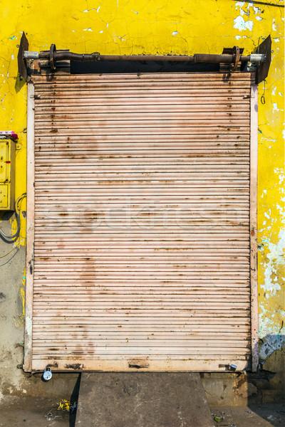 Kapalı dükkanlar gün Hindistan 12 19 Stok fotoğraf © meinzahn