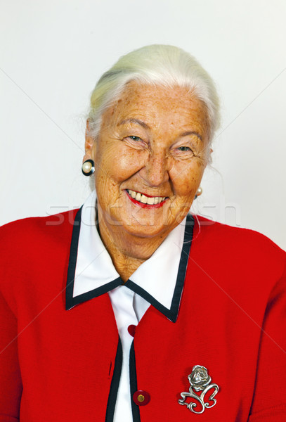 portrait of smiling attractive senior woman Stock photo © meinzahn