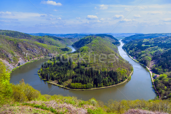 Saar loop at Cloef. A famous view point. Stock photo © meinzahn