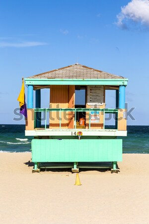 Verão cena típico colorido salva-vidas casa Foto stock © meinzahn