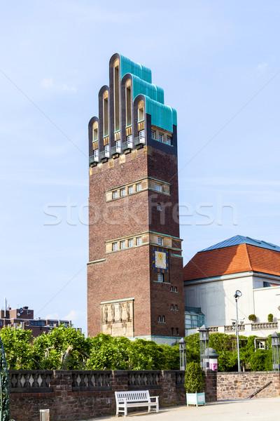 Vintage looking Hochzeitsturm tower at Kuenstler Kolonie artists Stock photo © meinzahn