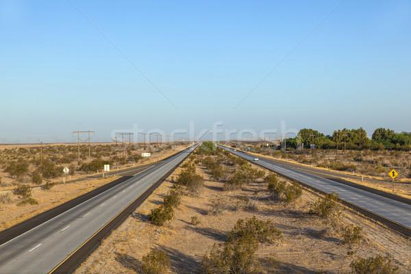 Eyaletler arası sabah Arizona doku manzara Stok fotoğraf © meinzahn
