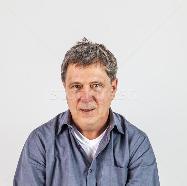 casual smart astonished man Stock photo © meinzahn