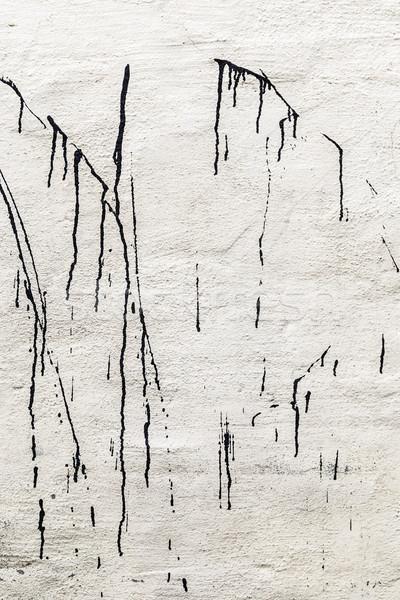 Branco parede veja como caligrafia limpar Foto stock © meinzahn