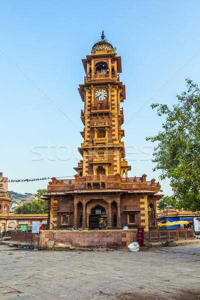 famous Jodhpur clocktower  Stock photo © meinzahn
