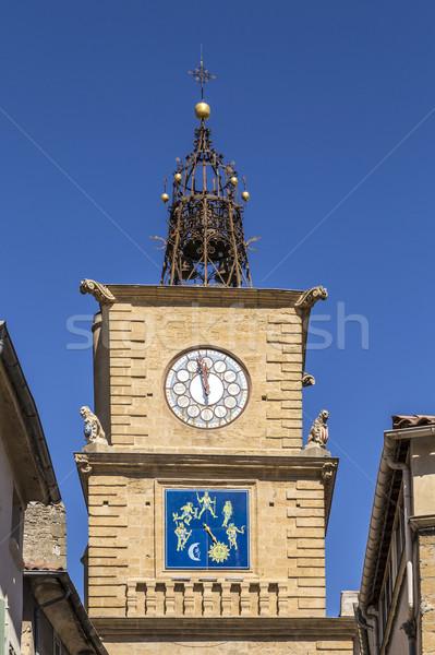 Tur salon mavi gökyüzü şehir Stok fotoğraf © meinzahn