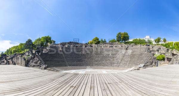 円形競技場 3  リヨン フランス 青空 ストックフォト © meinzahn