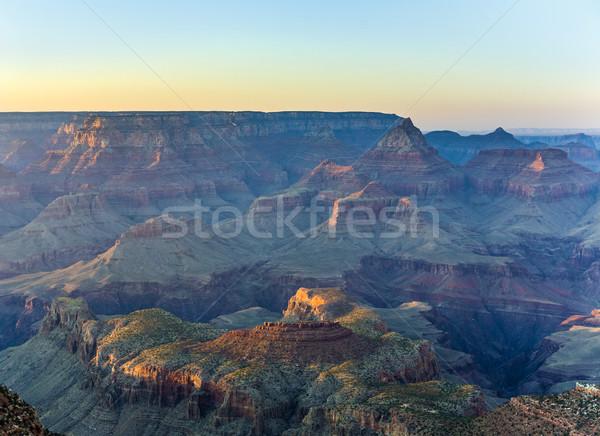 岩 峡谷 日没 幻想的な 表示 ストックフォト © meinzahn
