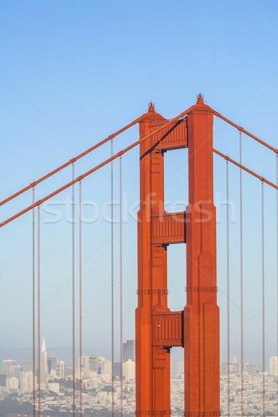 Híres San Francisco Golden Gate híd délután fény késő Stock fotó © meinzahn