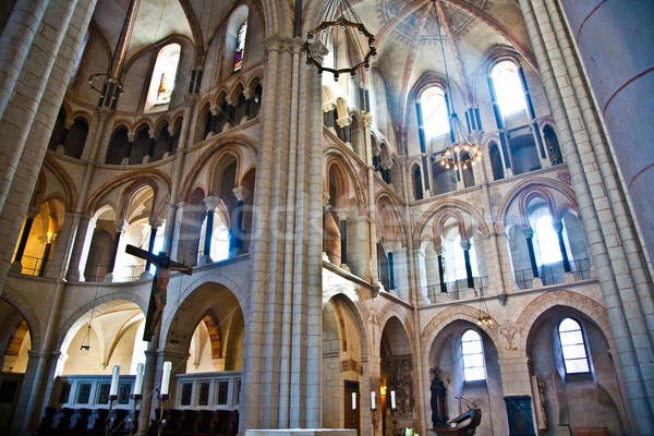 famous gothic dome in Limburg from inside Stock photo © meinzahn
