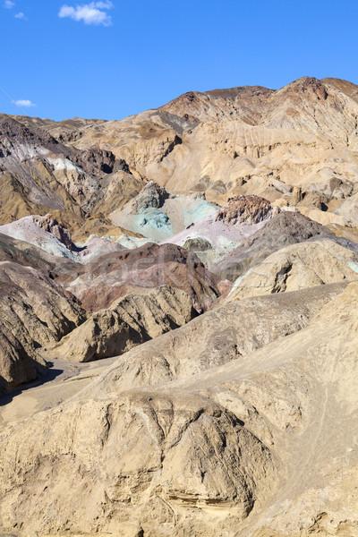 ストックフォト: パレット · 死 · 谷 · 道路 · 青 · 岩