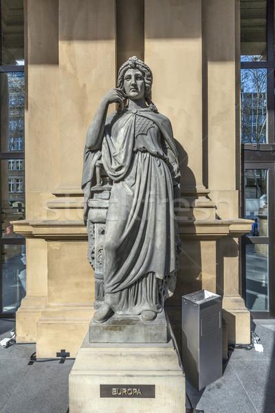 statue at frankfurt stock exchange that symbolizes Europea Stock photo © meinzahn