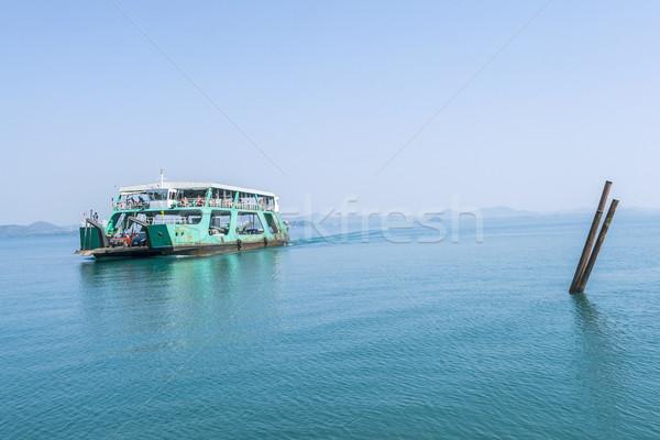 Balsa ilha carros oceano viajar bambu Foto stock © meinzahn