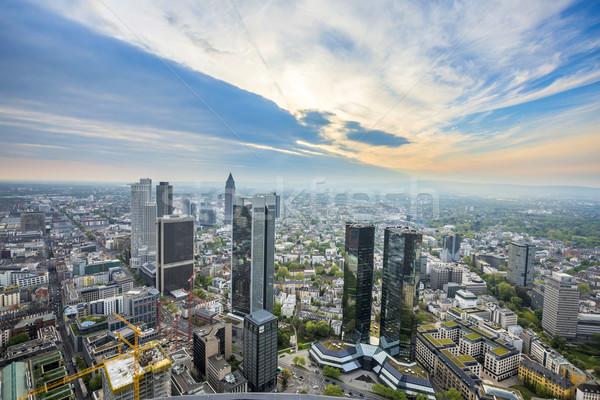 Панорама Франкфурт основной Германия 2015 Сток-фото © meinzahn