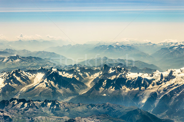aerial of the French Alps   Stock photo © meinzahn