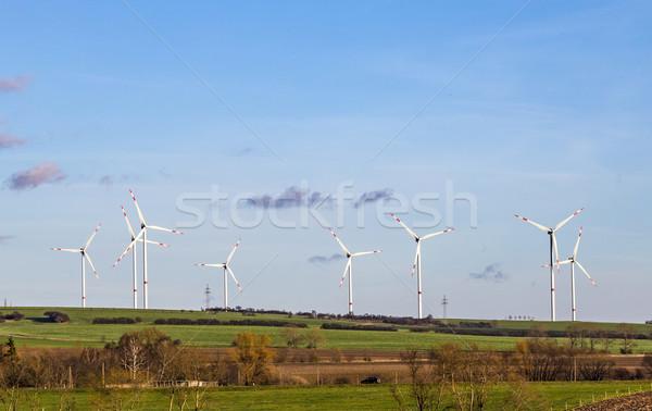 風 風光明媚な 風景 技術 緑 青 ストックフォト © meinzahn