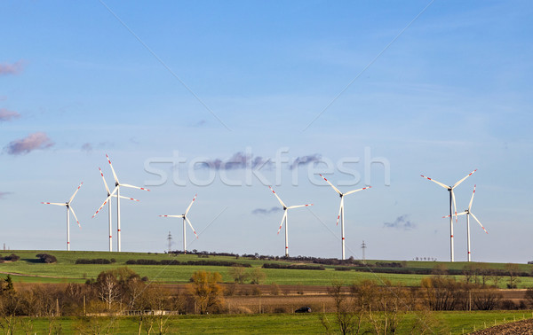 ветер живописный пейзаж технологий зеленый синий Сток-фото © meinzahn