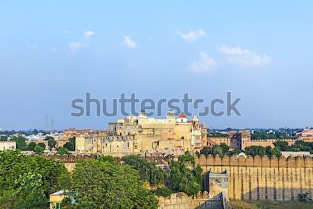 Słynny bursztyn fort tekstury ściany pomarańczowy Zdjęcia stock © meinzahn