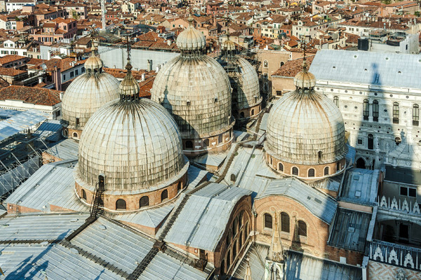 Stock photo: overlooking the marcus church in venice from campanile de San Ma