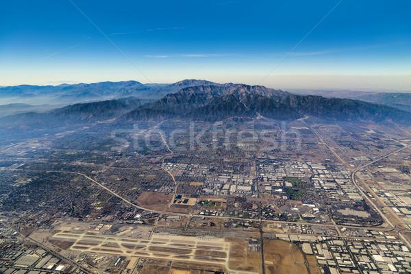 Antenne Los Angeles blauwe hemel gebouw reizen Stockfoto © meinzahn