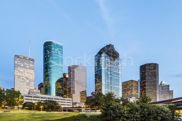 ストックフォト: スカイライン · ヒューストン · 明るい · ライト · オフィス