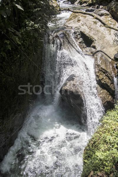 waterfall near Mindo in nambillo rain forest in Ecuador Stock photo © meinzahn